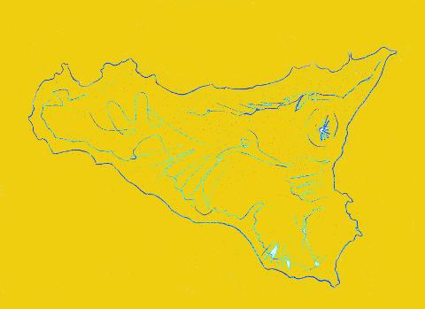 immagine del bozzetto ritoccato con colore ocra