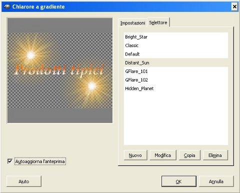 immagine finestra-pannello di controllo Distant Sun, seconda applicazione
