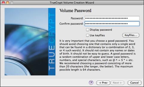Scegliamo la password