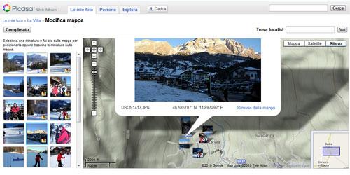 Figura 2: Picasa Web Album con Mappe