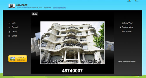 Figura 8: Gli slideshow di Slide.com