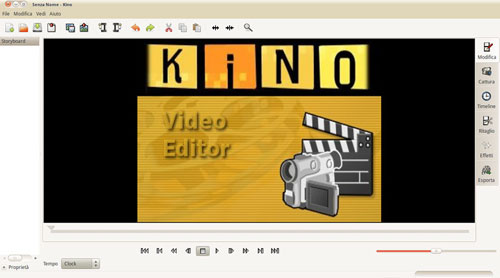 Figura 1: Kino editor video per Linux
