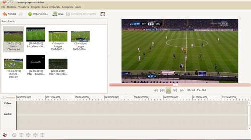 Figura 3: PiTiVi editor video per Linux
