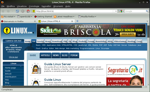 Figura 2: Le nuove applicazioni: Firefox