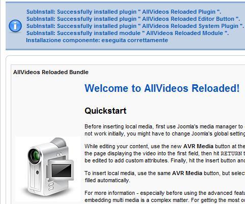 AllVideos Reloaded è installato