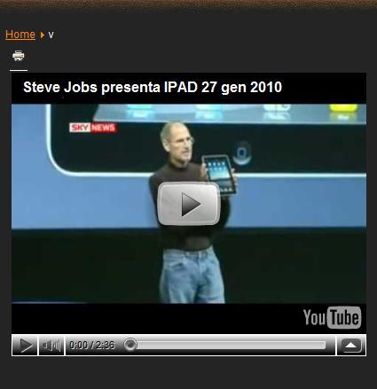 Un video inserito con AllVideos Reloaded