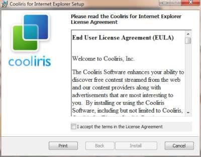 Accettazione condizioni licenza d'uso