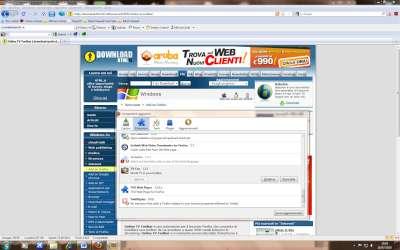Firefox: Pannello gestione componenti aggiuntivi