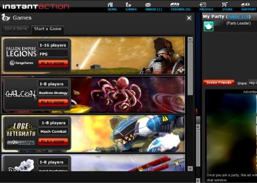 Figura 2: Instant Action: titoli in 3D e modalità multiplayer
