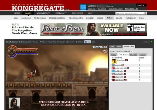 Figura 5: Kongregate: piattaforma con titoli di qualità