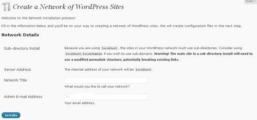 Creare un network di blog