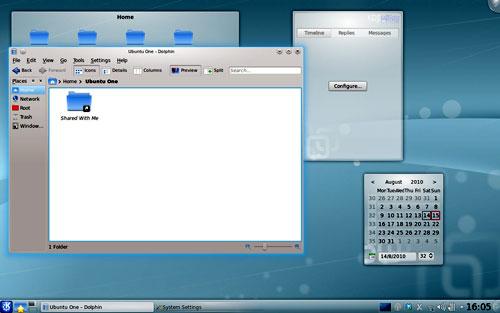 Figura 3: i widget in KDE 4.5