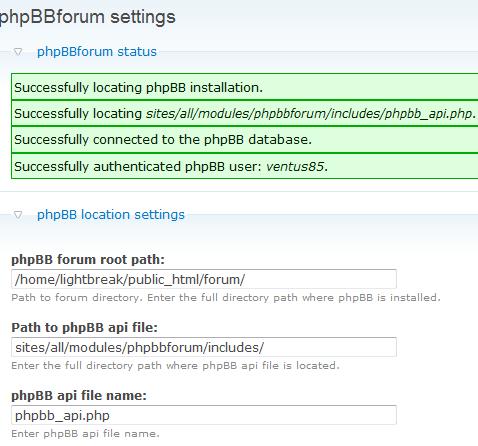 phpBB impostazioni forum