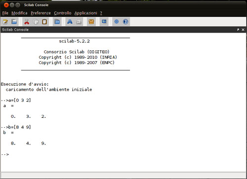 Figura 2: L'interfaccia di Scilab