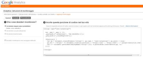 Google Analytics - Sezione