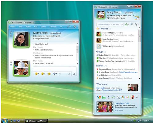 Esempio di Windows Live Messenger in azione