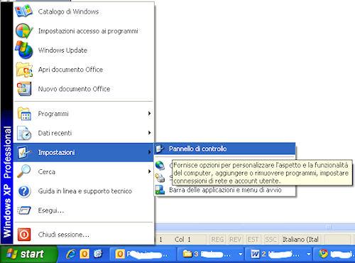 Come accedere al firewall di Windows XP (1)