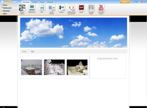 Figura 5: Le impostazioni Multimediali di Weebly