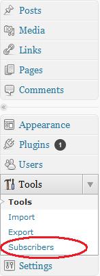 Subscribe2 nel menu Tools