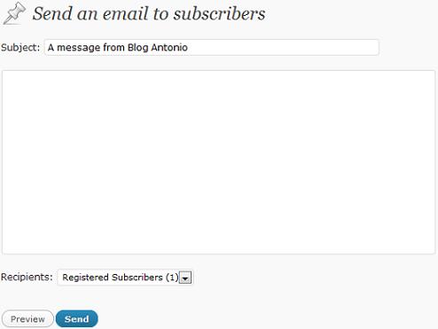 Inviamo un'email agli iscritti