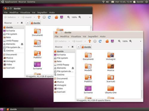 Figura 3: I molti temi di Ubuntu 10.01