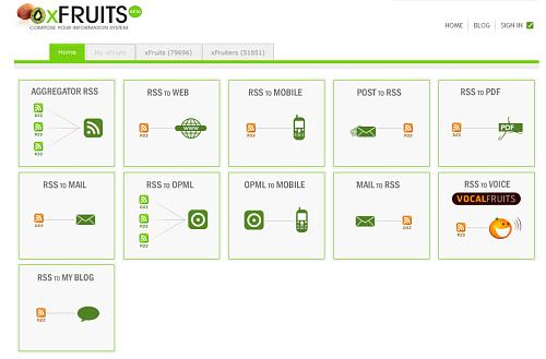 Figura 1: La homepage di XFruits