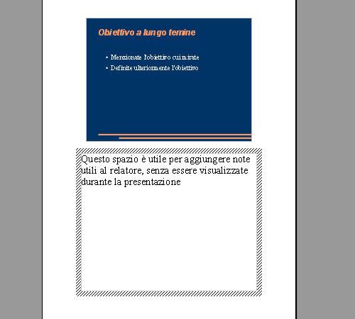 Visualizzazione note utili al relatore