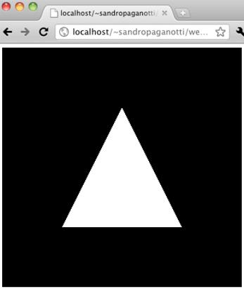 Il triangolo disegnato