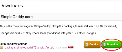 SimpleCaddy Core