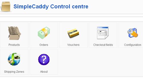 SimpleCaddy Control centre