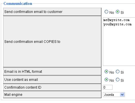 E-mail di conferma da inviare ai clienti