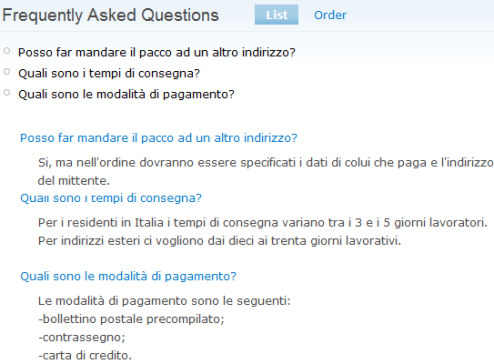 Elenco FAQ create in Drupal