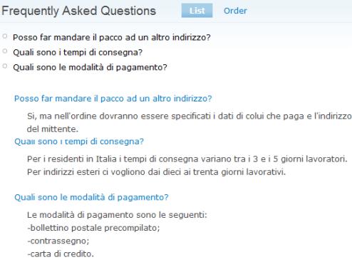 Elenco FAQ create in Drupal