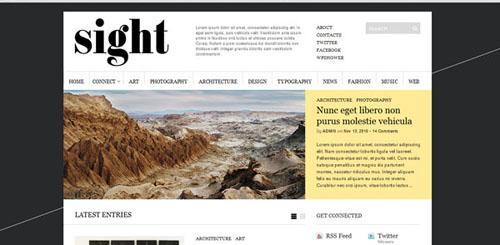 Sight template per WordPress