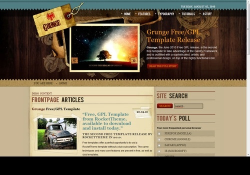Grunge template Joomla