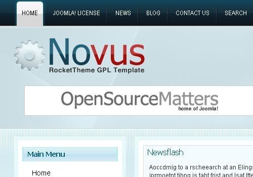 Novus template Joomla