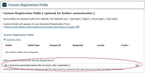 Custom Registration Field
