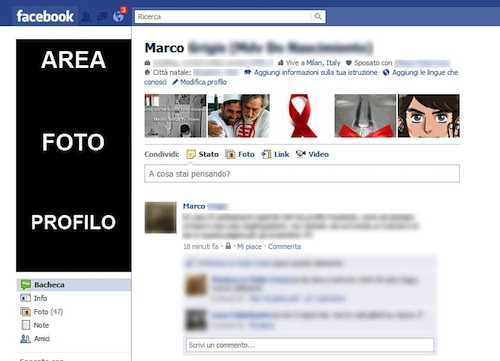 Screenshot della pagina di Facebook