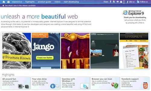 Il sito 'beautyoftheweb'
