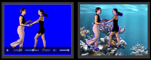 Esempio video con effetto chroma key