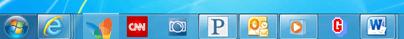 Applicazioni pinned nella taskbar