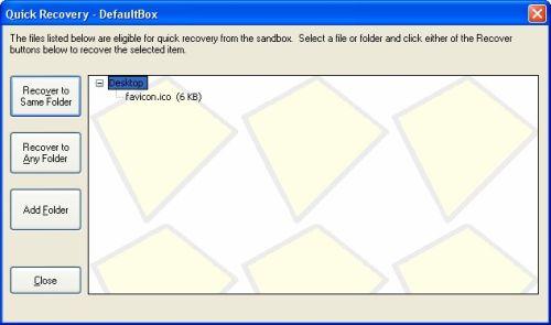 Sandboxie configurazione
