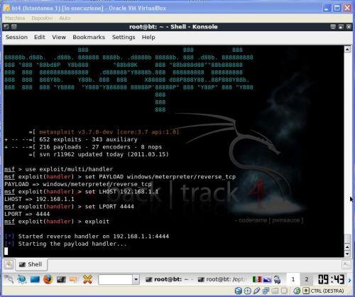 Fbacktrack listener creato