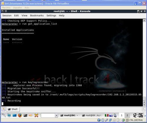 keylogger BackTrack