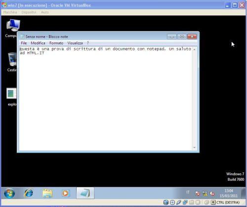 BackTrack apertura notepad macchina compromessa