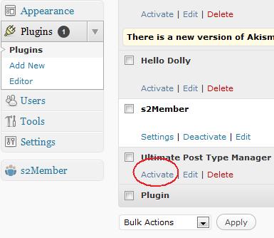 Attiviamo Ultimate Post Type Manager