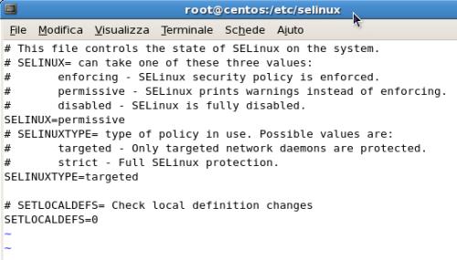 stato di SELinux