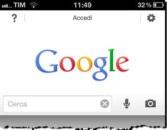 Figura 8: L'applicazione Google per iPhone