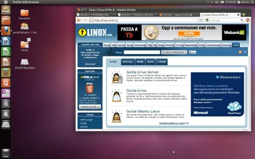 Figura 1: Il Desktop di Ubuntu 11.04