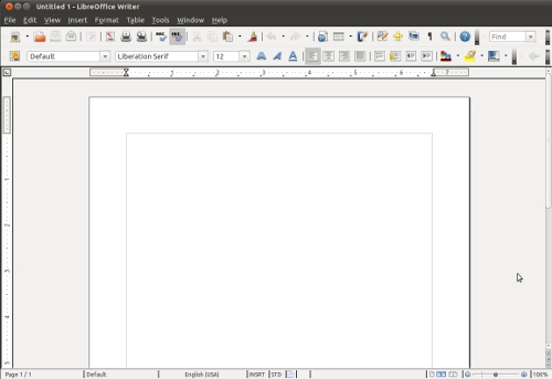 Figura 2: Libre Office, il nuovo office package di default di Ubuntu 11.04